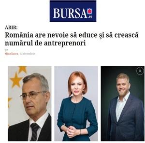 România are nevoie să educe şi să crească numărul de antreprenori