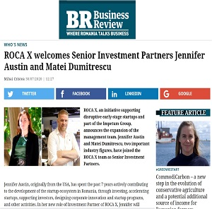 ROCA X welcomes Senior Investment Partners Jennifer Austin and Matei Dumitrescu