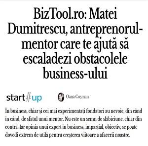 BizTool.ro: Matei Dumitrescu, antreprenorul-mentor care te ajută să escaladezi obstacolele business-ului